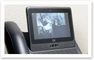Perao project, video broadcast from the facility cameras via a secure VPN channel, on a Cisco tablet.